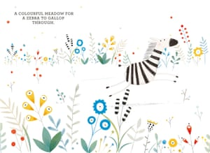 Zebra in flowers