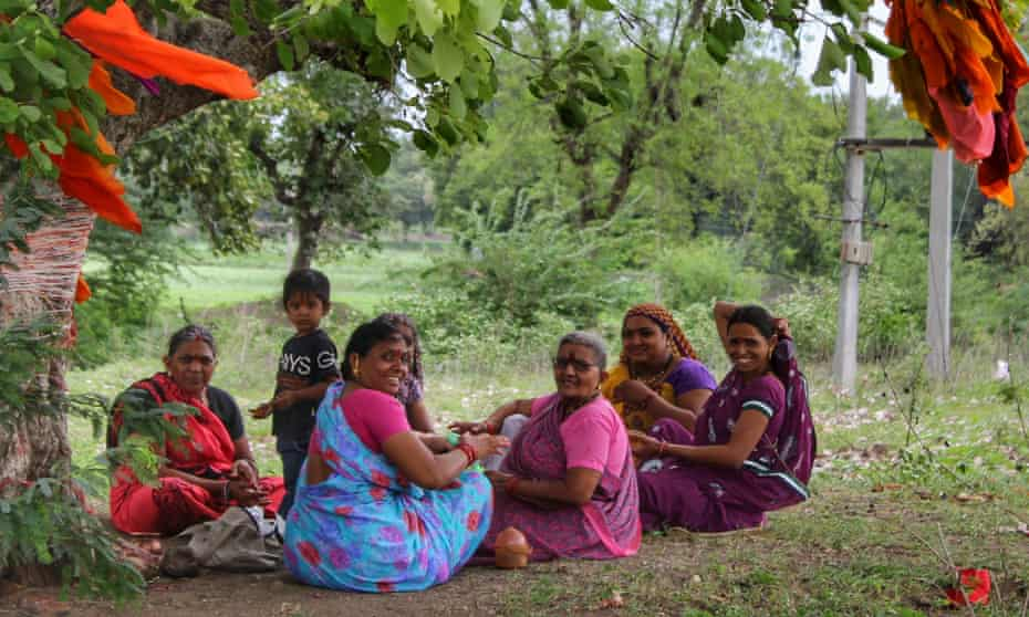 A group of women on an outing to a sacred tree