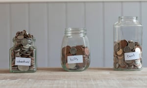 Jars of coins