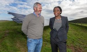 Scottow Moor Solar developers Gareth Hawkins and Donna Clarke.