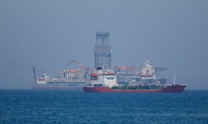 A drillship off the coast of Limassol, Cyprus.