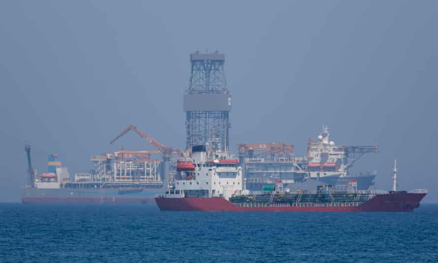 Drillship Pacific Khamsin off Limassol, Cyprus