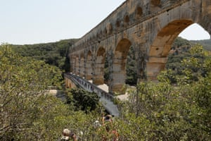 The Tour de France on the Pont du Gard