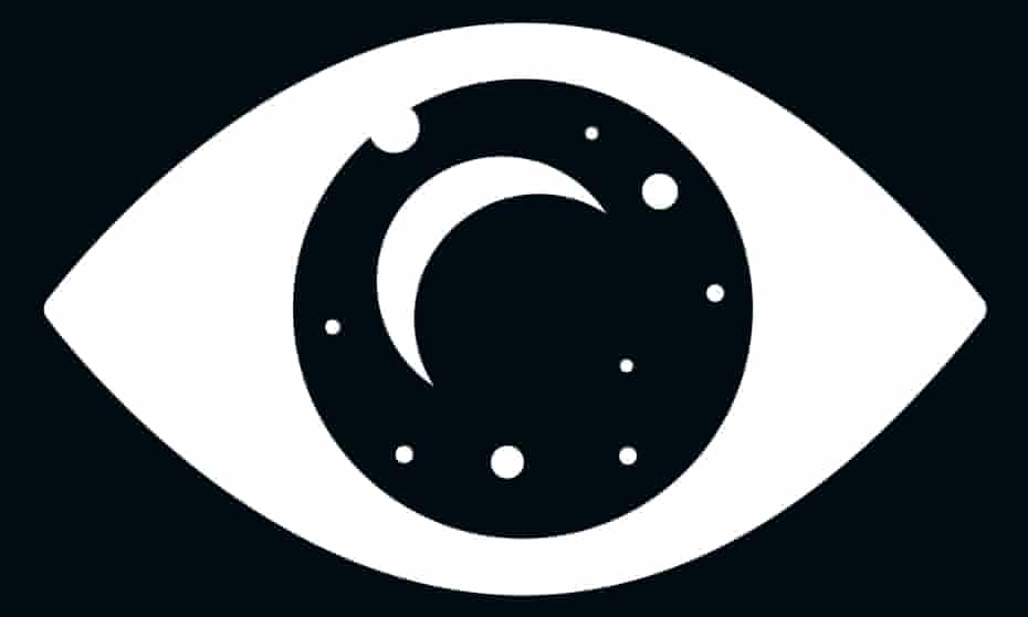 illustration of an eye reflecting the moon