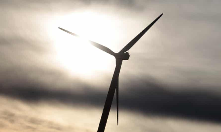 A wind turbine near Canberra, Australia