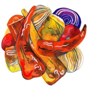 Roast veg illustration