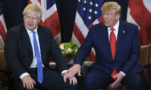 Boris Johnson and Donald Trump at the UN headquarters in New York