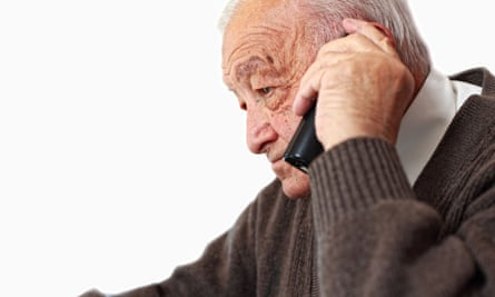 Pensioner pays the price of using his mobile to get emergency help.
