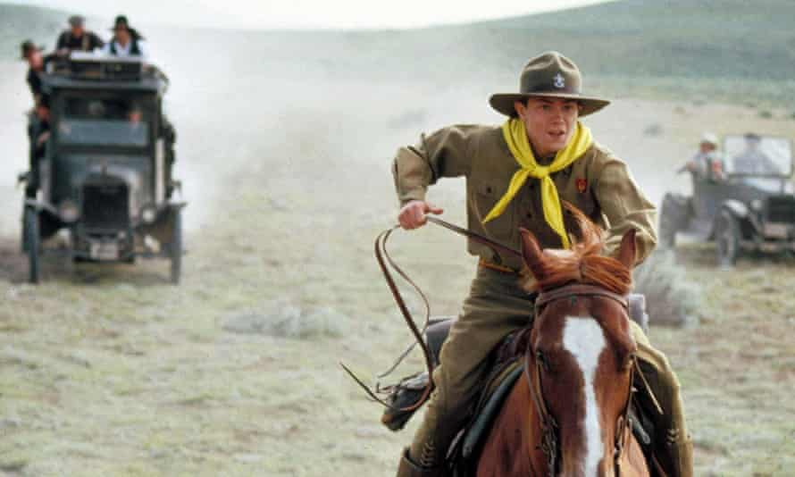 Rip-roaring origin story … River Phoenix as the young Indy.