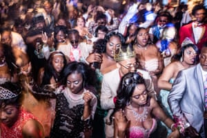 Prom students from Northwestern High School fill the dance floor at their 2017 Prom Dance on the Detroit Princess riverboat.