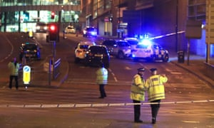 Police cordon at Manchester Arena incident