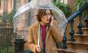 Timothée Chalamet in Woody Allen's A Rainy Day in New York.