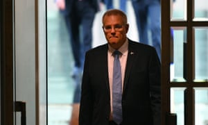 Prime minister Scott Morrison before Question Time in the House of Representatives at Parliament House in Canberra, 22 October 2018.