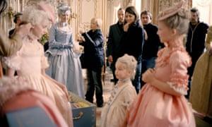 Sofia Coppola on the set of her 2006 film Marie Antoinette.