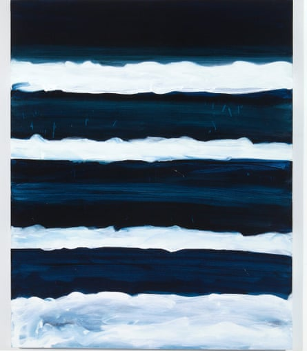 Mary Heilmann's Night Swimmer (1998): 'what a swimmer might see when breasting the waves at midnight'
