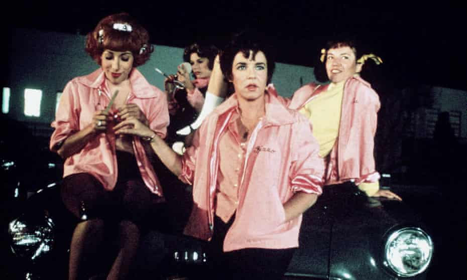 Stockard Channing as the unapologetic bad girl Rizzo (centre) in Grease.
