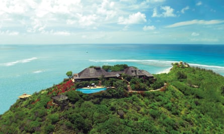 Branson's Necker Island home in the Caribbean