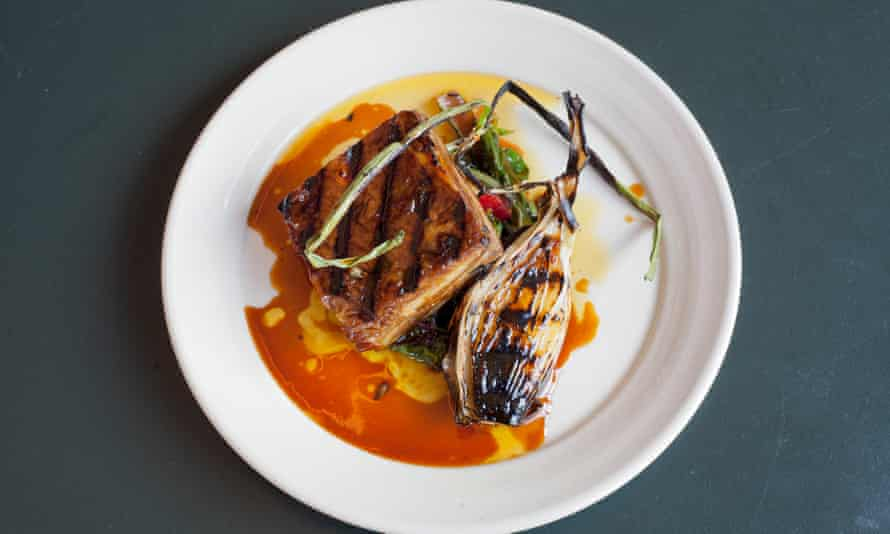 'Escapee from another menu': glazed lamb belly.