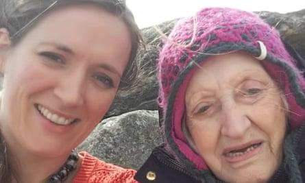Leandra Ashton with her nan, Tina Thornborough, in Shetland in summer 2018.