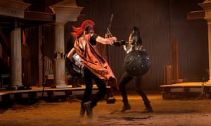 Ferocious … Ben Dilloway and Mark Holgate in The Iliad.