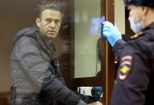 Moscow, Russia:Alexei Navalny appears in court in Babushkinsk, on the charge of defaming a second world war veteran