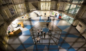Prison officers on the floor of HMP Wandsworth