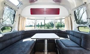 An Airstream interior at Ca'Savio, Italy