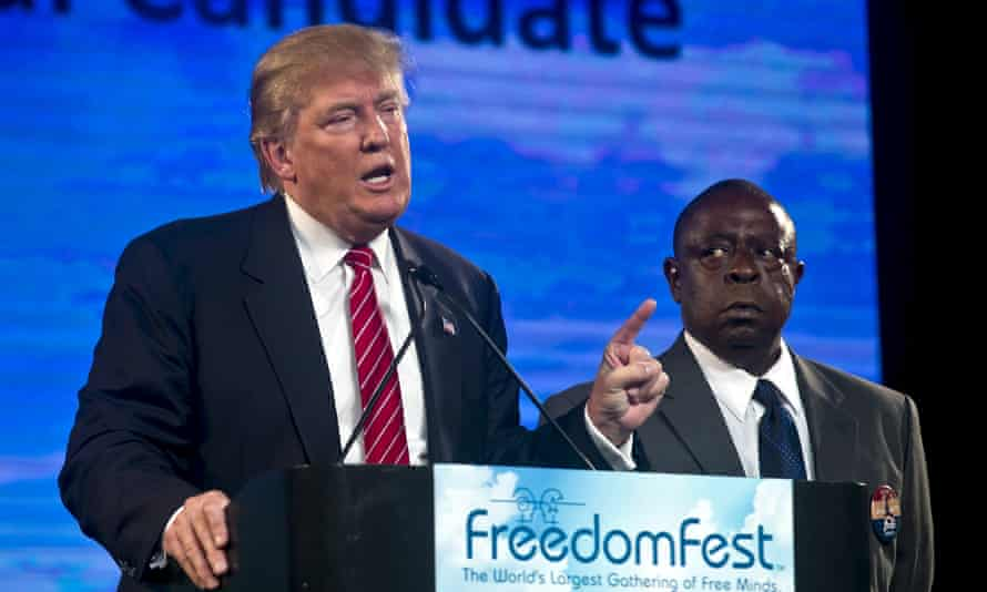 Donald Trump speaks about Jamiel Shaw, whose son was shot to death by an undocumented immigrant, during the election campaign.