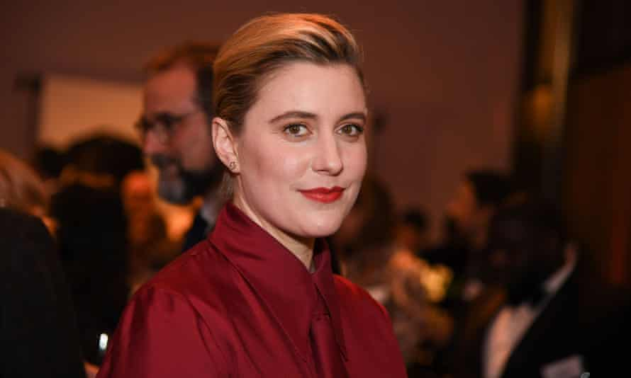 Little Women director Greta Gerwig at the 2020 Oscars nominees' luncheon at the Dolby theatre in Hollywood.