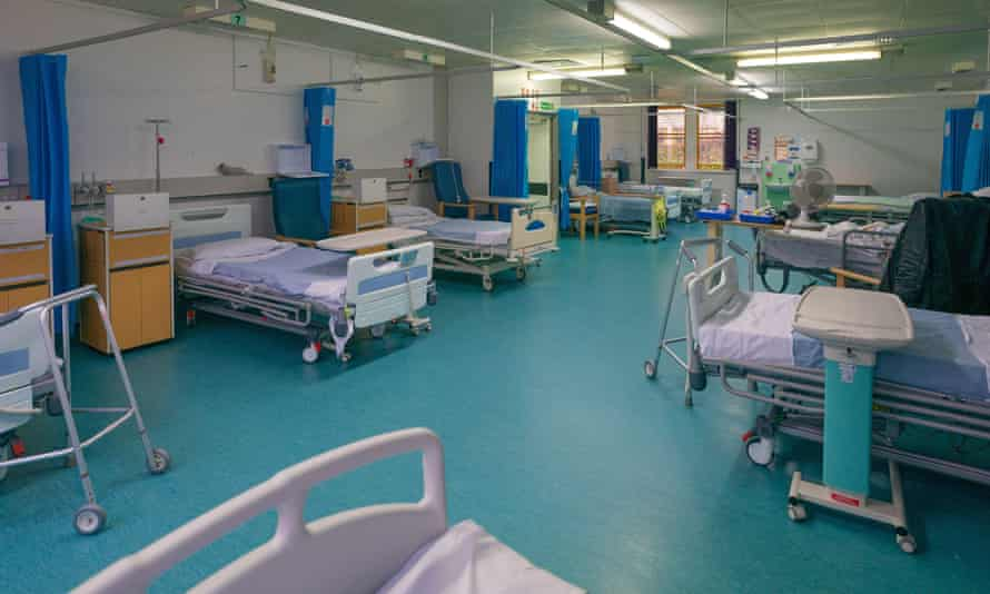 A hospital ward in Milton Keynes that is being transformed into an intensive care unit for coronavirus patients.
