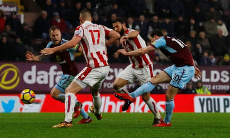 Ashley Barnes' late goal against Stoke sends Burnley soaring into top four