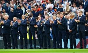 Tottenham Hotspur legends honour Jimmy Greaves .