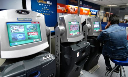 People playing roulette on fixed odds betting terminals at William Hill