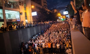 The group were initially demanding the release of all political prisoners, but as the protest grew demonstrators on the streets called for President Serzh Sargsyan to resign