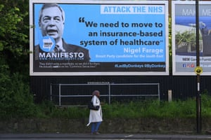 A Led By Donkeys billboard in Coventry quoting Nigel Farage.