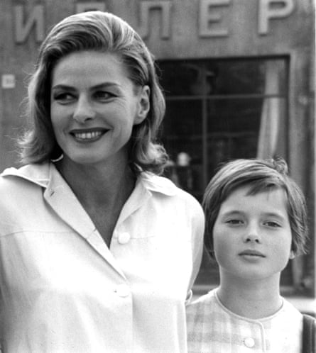Isabella Rossellini as a child with her mother