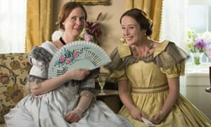 Behind the lines … Cynthia Nixon, left, as Emily Dickinson and Jennifer Ehle as her sister Vinnie in A Quiet Passion.