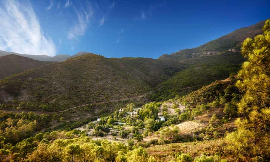 The estate is hidden away in the hills in Southern Spain.