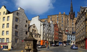 Grassmarket and Victoria Street in Edinburgh, where universal basic income will be trialled next year