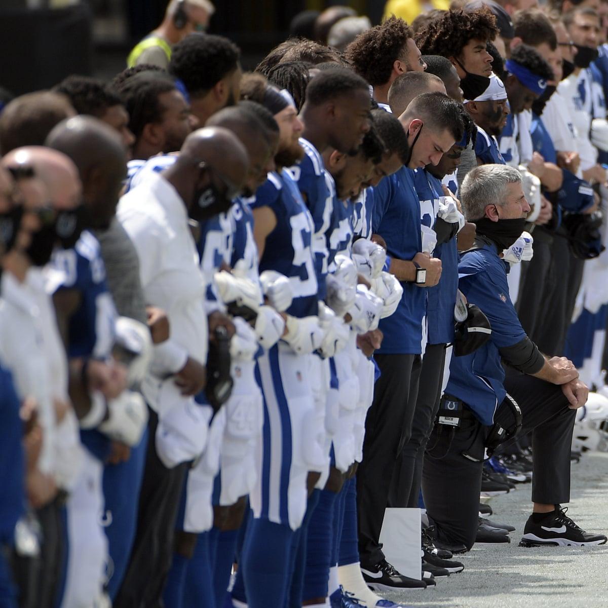 Colin Kaepernick Attacks Nfl Propaganda As Teams Protest On Opening Weekend Colin Kaepernick The Guardian