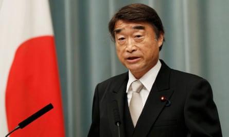 Japan's health, labour and welfare minister Takumi Nemoto