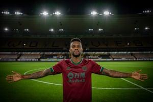 Nelson Semedo in Wolves' new third kit.