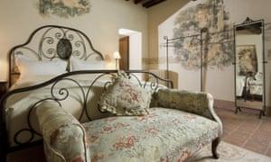 Bedroom at Palazzo Brandano, Petroio, Italy.