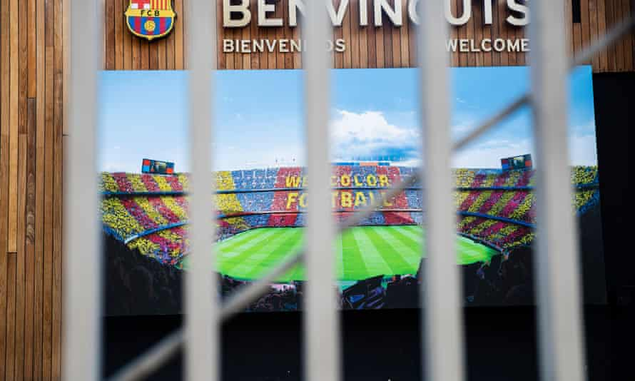 The Camp Nou has been closed to the public since the middle of March. La Liga hopes to resume the season by mid-June.