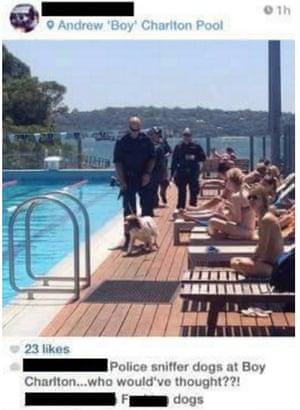 Instagram screengrab showing a police patrol.