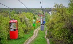 Kharkiv park cable way