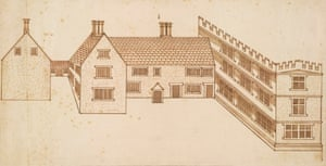 Design for a House With a Castellated Wing by John Smythson, 1600.