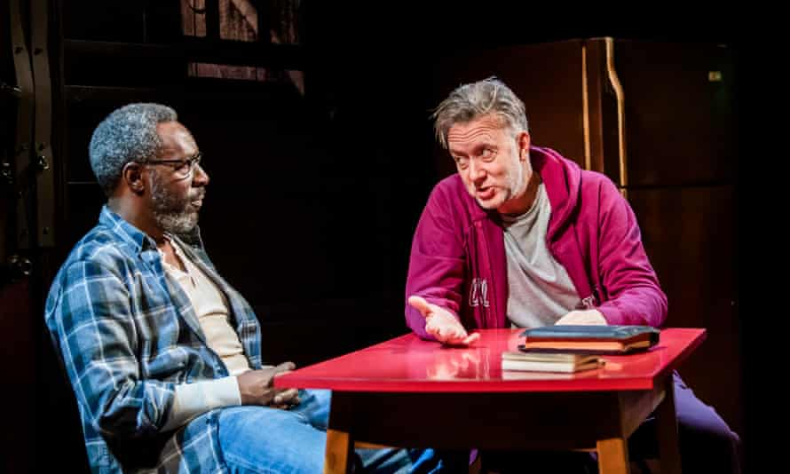 Gary Beadle and Jasper Britton in The Sunset Limited at the Boulevard theatre, London.