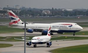 British Airways planes at Heathrow during the weekend of the shutdown.