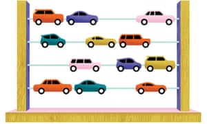 Illustration of a car abacus